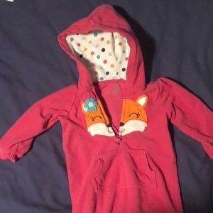 Carters baby girl pink size 18 months onesie